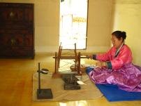 Travail de fillage - Village folklorique