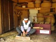 Tressage de la paille - Village folklorique
