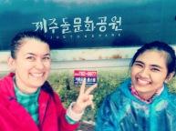 Jeju - complètement trempées!